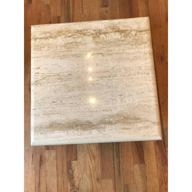 Set of Three Italian Square Travertine Coffee Table For Sale In Chicago - Image 6 of 11