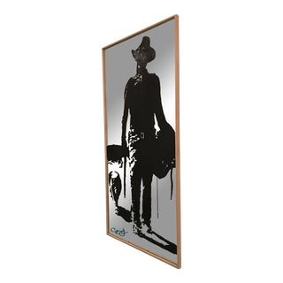"""Hondo"" Acrylic Painting on Mirrored Glass For Sale"