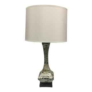 Contemporary Mother Pearl Lamp With Shade For Sale
