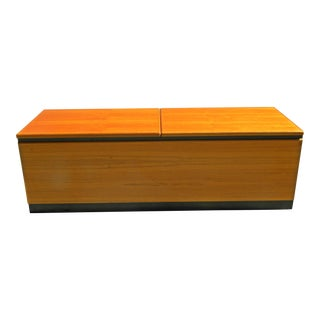 Vintage Danish Teak Storage Trunk For Sale
