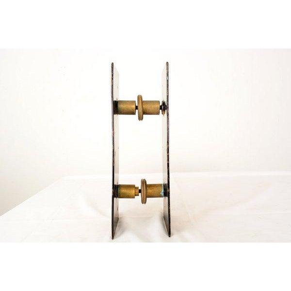 "Enamel on Copper ""Del Campo Studio"" Italian Door Handles - a Pair For Sale - Image 4 of 10"