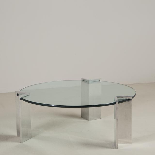 Steel and Glass Leon Rosen for Pace Coffee Table, 1970s For Sale - Image 6 of 6