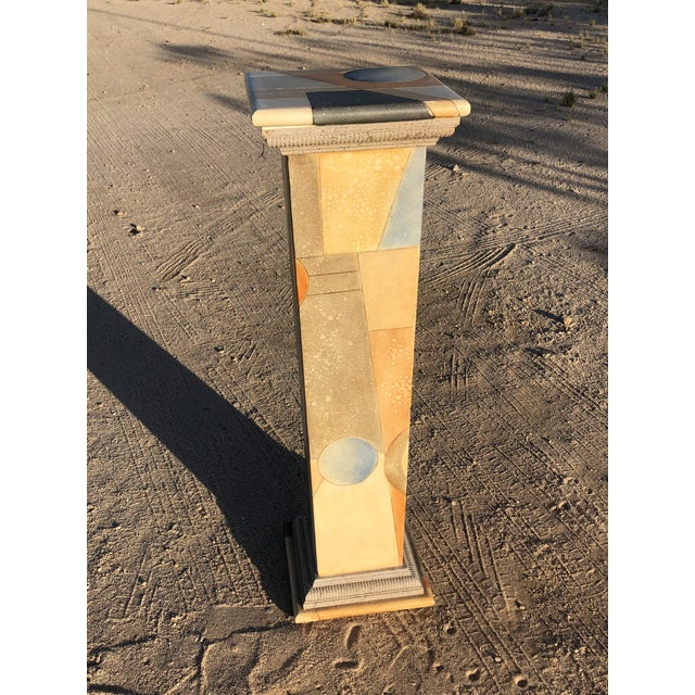 1980s Vintage Abstract Wood Pedestal For Sale - Image 11 of 11