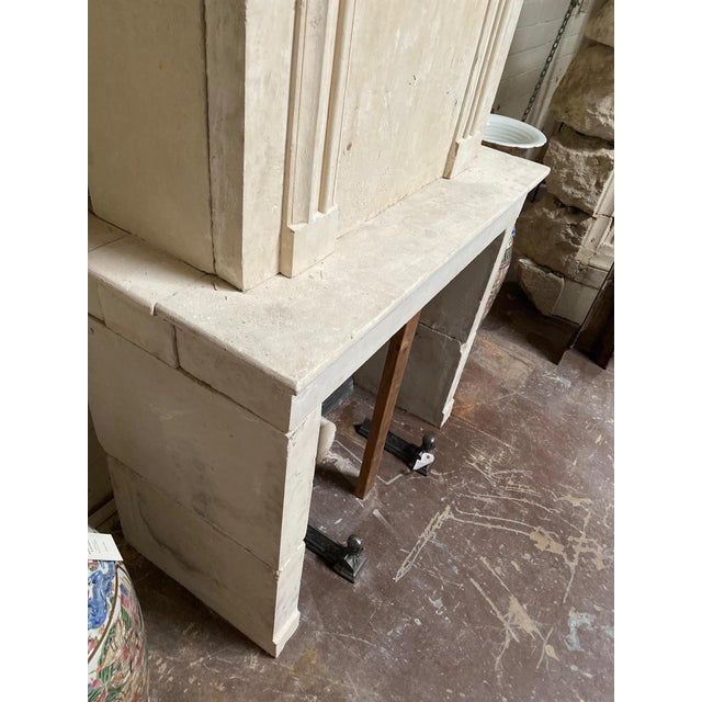 Alabaster 19th Century Limestone Mantel with Trumeau For Sale - Image 8 of 9