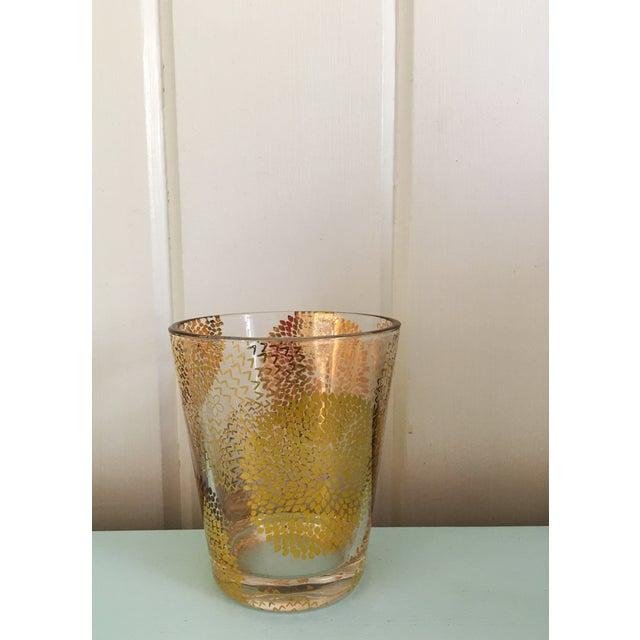 Gold Chrysanthemum Glasses - Set of 4 - Image 3 of 8