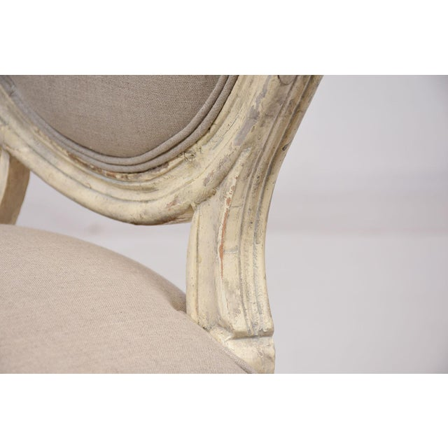 Antique French Louis XVI-Style Dining Chairs - Set of 6 - Image 7 of 10