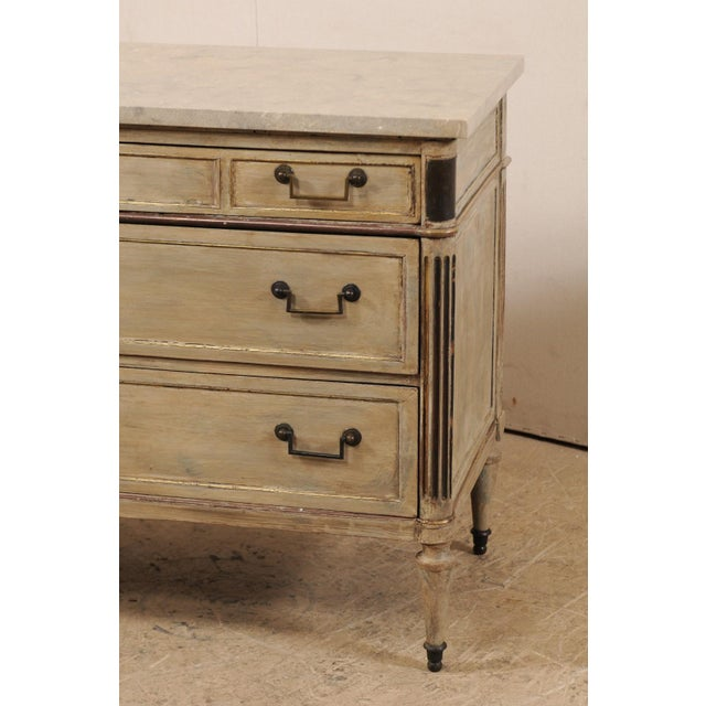 Mid 19th Century French Carved Wood Commode With Limestone Top For Sale In Atlanta - Image 6 of 12