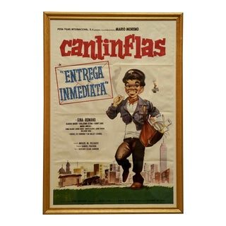 """Circa 1963 """"Entrega Inmediata"""" Cantinflas Litho Poster For Sale"""