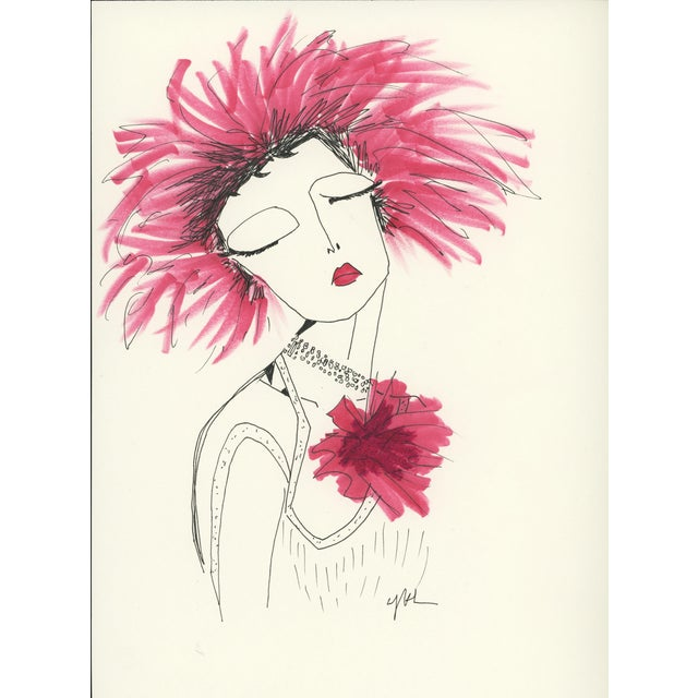 """2010s Original Illustration, """"Divinely Dramatic"""" by Carly Kuhn For Sale"""