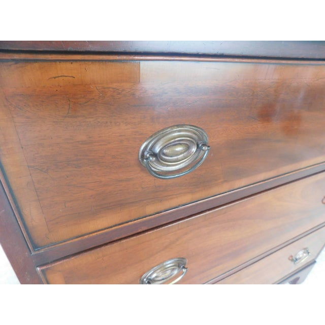 Red Kittinger Mahogany Chippendale Style 3 Drawer Chest For Sale - Image 8 of 13
