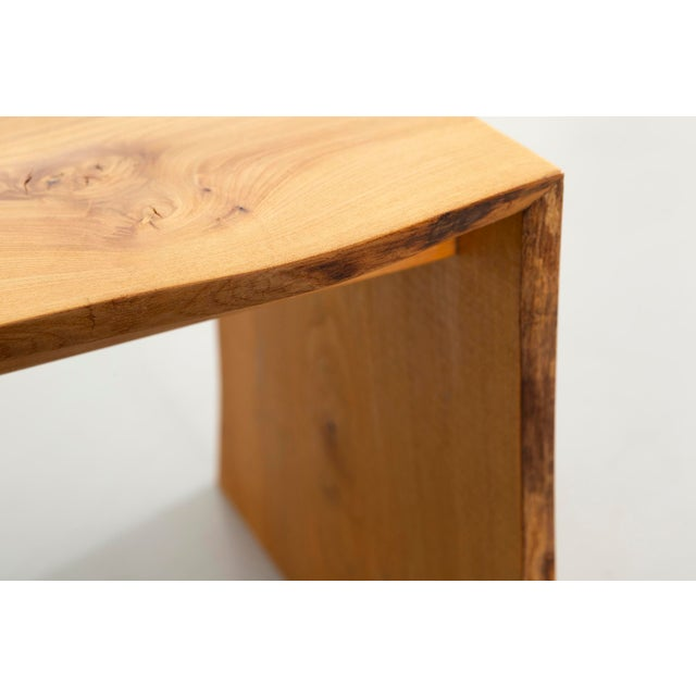 Brown Contemporary It Elmwood Bench For Sale - Image 8 of 12