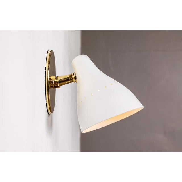 1950s Gino Sarfatti White Articulating Sconce for Arteluce For Sale - Image 10 of 13