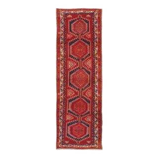 "Vintage Red Serab Hand Woven Runner 3'8"" X 11'4"" For Sale"