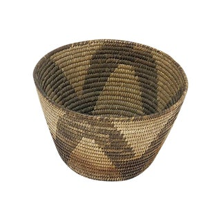 1920s Vintage Handwoven Basket For Sale