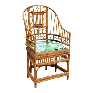 Antique Chippendale Brighton Pavilion Bamboo Chair, Restored For Sale
