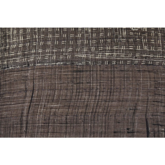 Contemporary Indian Patchwork Grey Pillow For Sale - Image 3 of 6