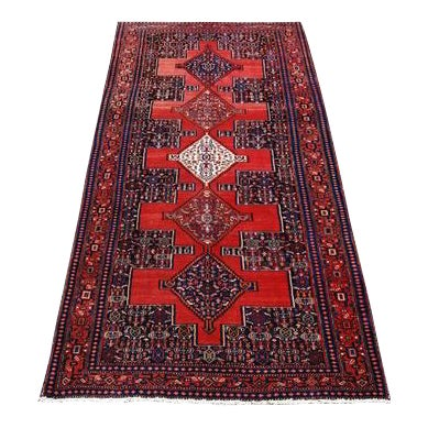 Semi Antique Persian Senneh Runner - 4′10″ × 10′5″ For Sale