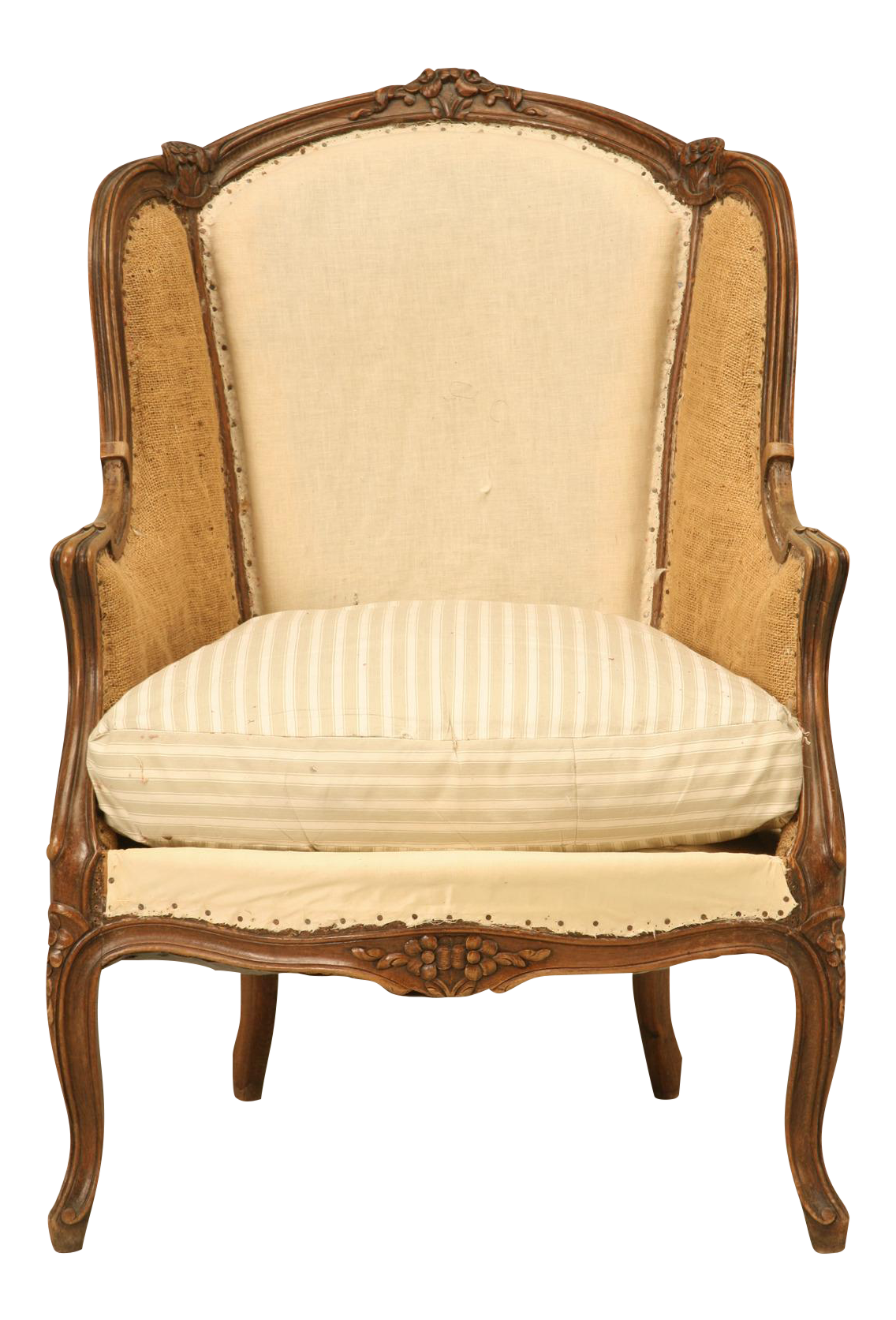 Antique French Louis XV Style Chair, Circa 1880s For Sale
