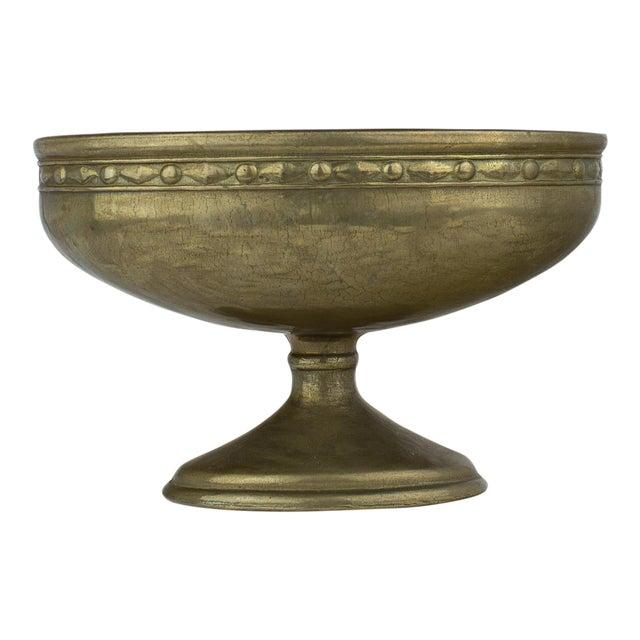 Vintage Brass Pedestal Bowl - Image 1 of 11