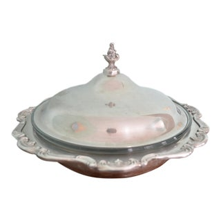 Gorham Duel Purpose Silver Lidded Bowl For Sale