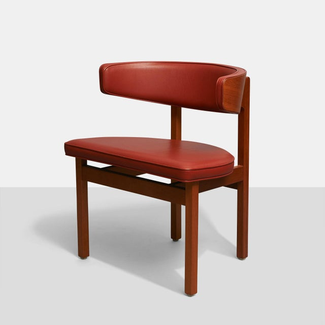 Mid-Century Modern Borge Mogensen set of 8 Dining or Conference chairs For Sale - Image 3 of 6