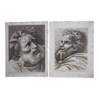 A Pair-Antique 18th Century Etchings by Paolo Fidanza After Raphael For Sale