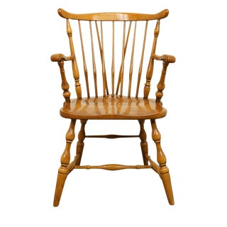 Late 20th Century Vintage Pennsylvania House Colonial Style Fiddleback Dining Chair For Sale