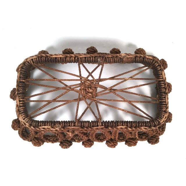 Mid 19th Century 19th Century Sailor Made Ropework Basket For Sale - Image 5 of 10
