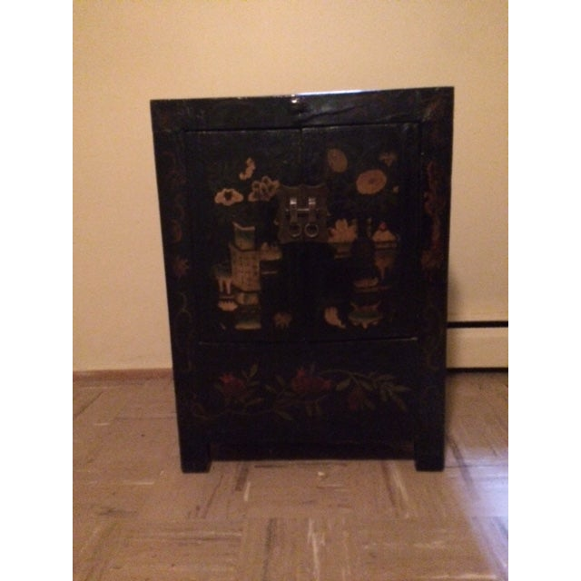 Asian Black Laquer Chest - Image 3 of 5