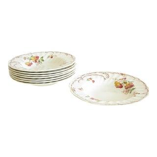 Vintage Royal Doulton Chiltern Earthenware Rimmed Bowls - Set of 8 For Sale