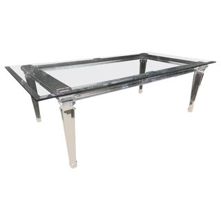 Hollywood Regency Lucite Dining Table For Sale