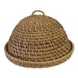 Image of Vintage Rattan Coil Basket Cloche For Sale