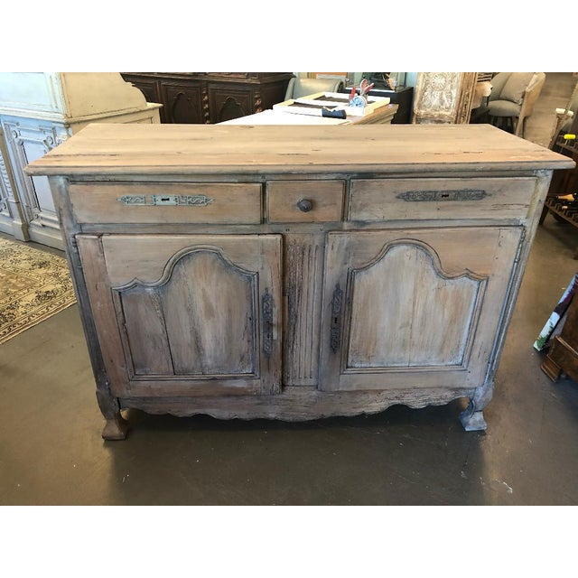 Gray 18th Century French Provincial Louis XV Buffet For Sale - Image 8 of 8