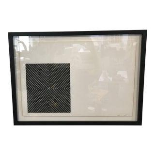 "Frank Stella 1967 Lithograph ""Black Series II"" Print For Sale"