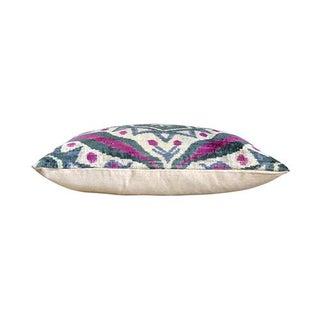 Kim Salmela Turkish Silk Velvet Ikat Lumbar Pillow Preview