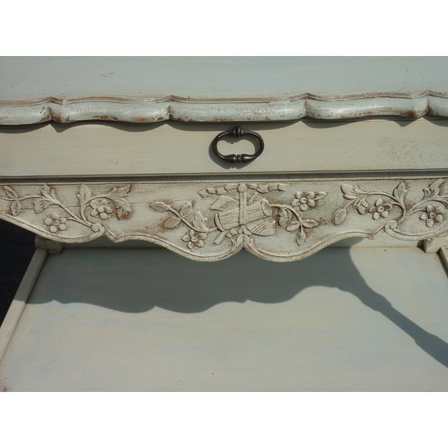 French Country Frieze Decorated Server For Sale - Image 4 of 4