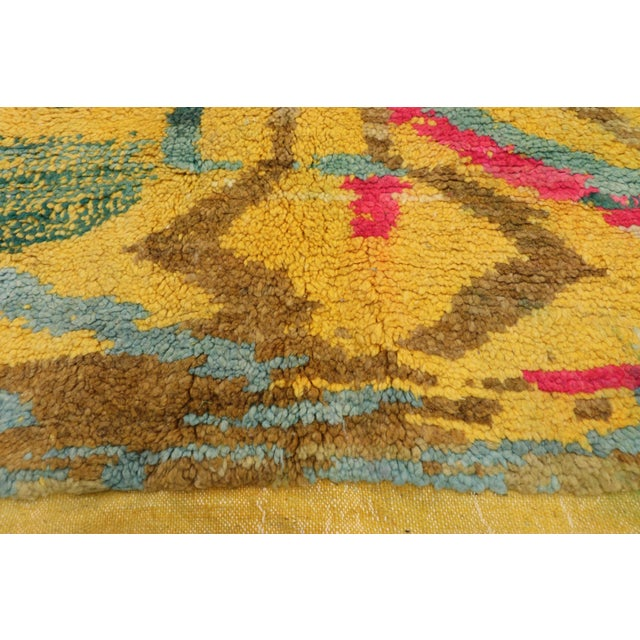 Berber Tribes of Morocco Contemporary Berber Moroccan Rug - 03'06 X 04'10 For Sale - Image 4 of 10