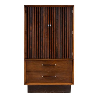 1960s Rosewood and Walnut Armoire For Sale