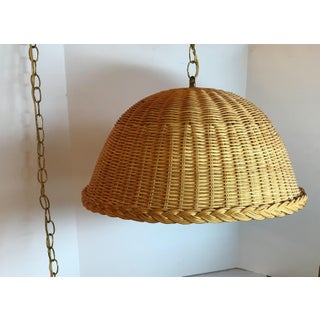 Vintage Wicker Swag Hanging Lamp Preview