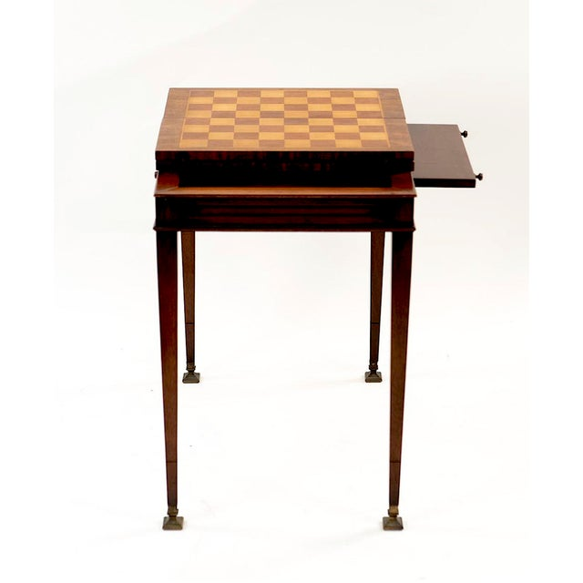 Vintage Mahogany Game Table - 1950's Weiman For Sale In New York - Image 6 of 13