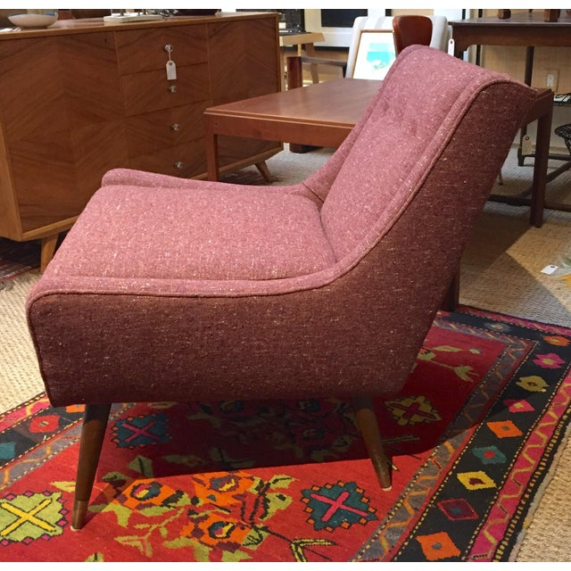 1950s 1950's Pink Modernist Lounge Chairs - A Pair For Sale - Image 5 of 6