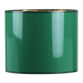 Small High Gloss Emerald Green Drum Lampshade For Sale