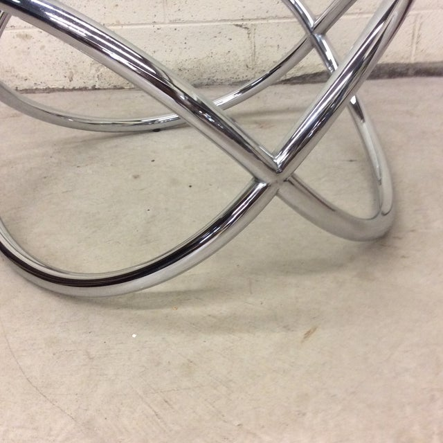 Metal Mid Century Chrome Tubular Infinity Coffee Table For Sale - Image 7 of 10