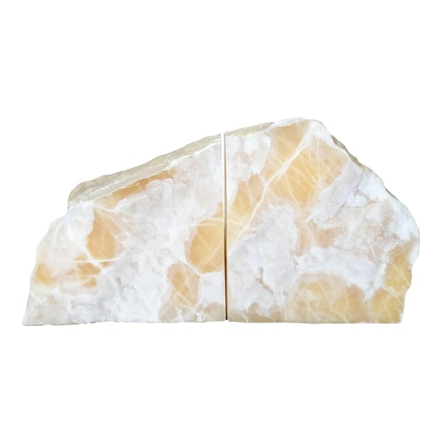 Vintage Natural Stone Bookends- A Pair - Image 1 of 8