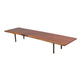 American Walnut Slab Bench