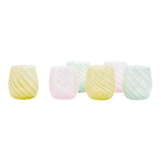 Moda Domus x Chairish Exclusive Murano Glasses, Small - Set of 6 For Sale