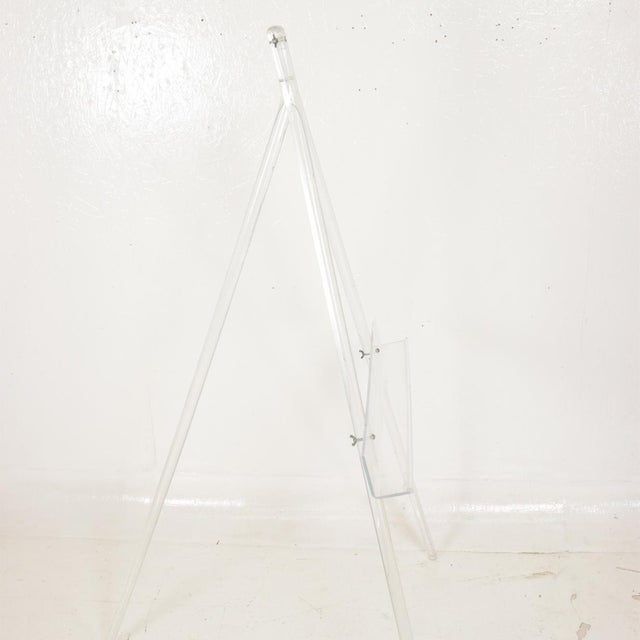 1970s Mid-Century Modern Lucite Easel For Sale - Image 5 of 9