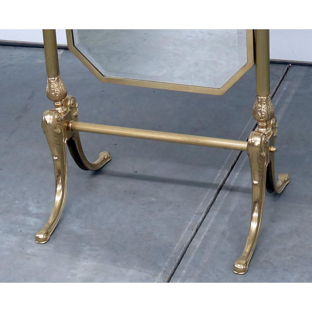 Hollywood Regency style cheval mirror. A beautiful accent to a dressing room!