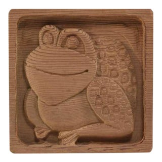 Animal Wood Carving Panel By Evelyn Ackerman For Sale