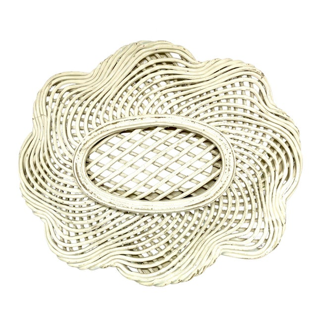 Shabby Chic 19th Century Openwork English Ceramic Woven Basket For Sale - Image 3 of 4